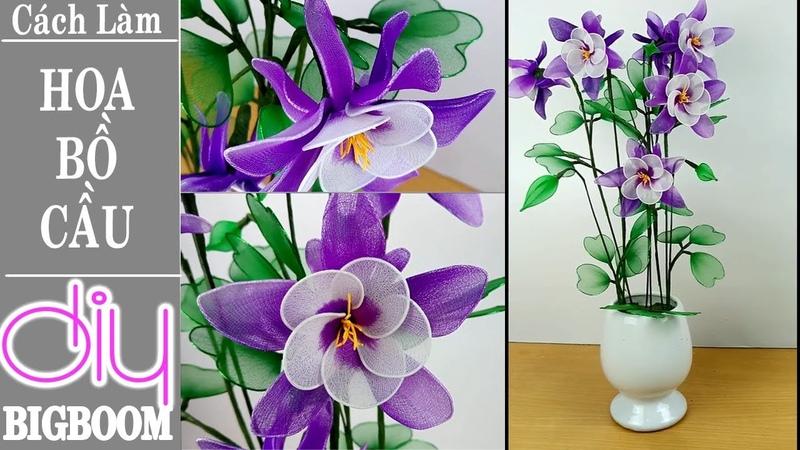Hướng dẫn cách tự làm Hoa Bồ Câu bằng vải voan, trang trí phòng khách | DBB-VN