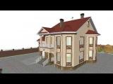 Двухэтажный дом с гаражом на 5 спален   E-159-ТП