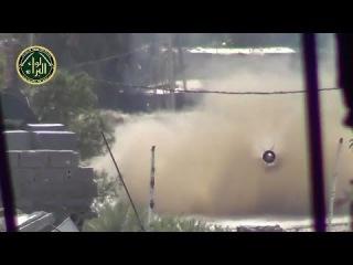 Сирия. Танк, выстрел и редкое видео летящего снаряда cbhbz. nfyr, dscnhtk b htlrjt dbltj ktnzotuj cyfhzlf