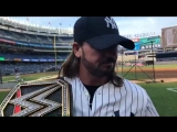 AJ Styles Brings The WWE Championship To Yankee Stadium
