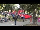 Харьковчане пронесли по городу 30-ти метровую Георгиевскую ленту 23.08.2014