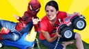 Monster Truck Max Tow Truck Challenge With Little Spidey Mickey Mouse DisneyCarToys