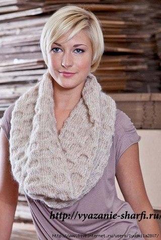 Шарф-снуд спицами - Модное вязание для всей семьи