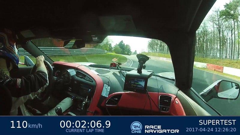 Рекордный круг Кристиана Гебхардта на Chevrolet Corvette Z06 (C7) на Нюрбургринге (7:13.90)