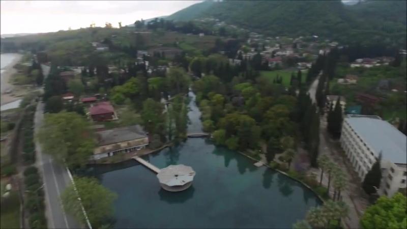 Красивое видео. Абхазия , Новый Афон , видео с беспилотника