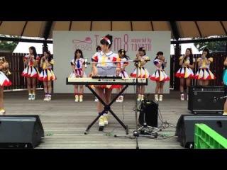20140713AKB48チーム8高岡薫バイオリン『ひまわり』→左伴彩佳、清水麻璃亜、小&#