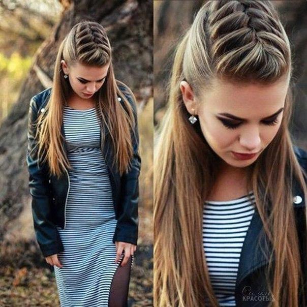 Модные красивые прически для девочек