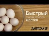 Лайфхак: Самый простой способ отделить желток от белка