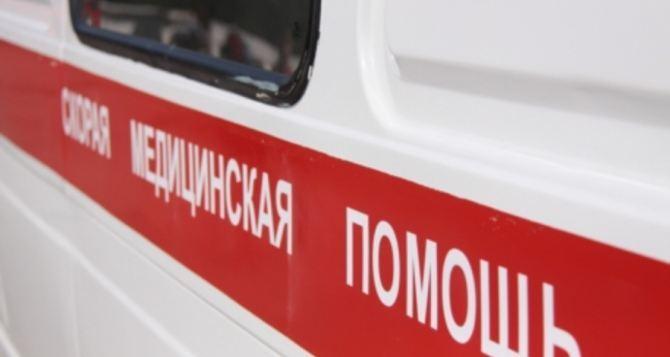 В Луганске помогли 70-летней пенсионерке, которая упала с двухметровой высоты