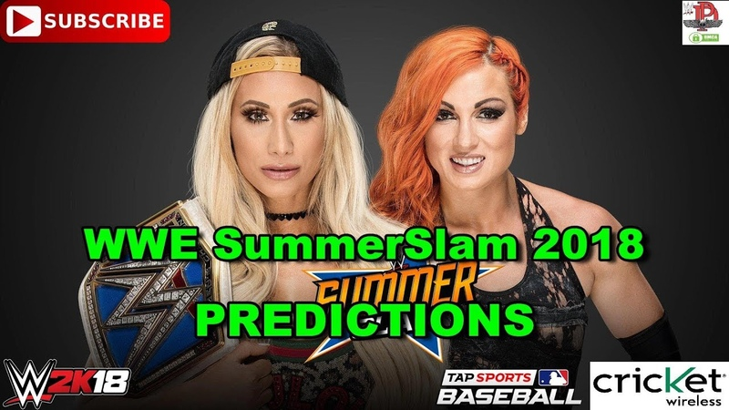 WWE SummerSlam 2018 SmackDown Women's Championship Carmella vs Becky Lynch Predictions WWE 2K18