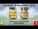 Pokémon Lets Go, Pikachu! Lets Go, Eevee! - Трейлер - A Whole New Way to GO!