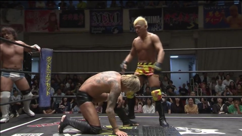 KUDO Yukio Sakaguchi Masahiro Takanashi vs Tanomusaku Toba Keisuke Okuda Yumehito Imanari DDT Road to Ryogoku 2018