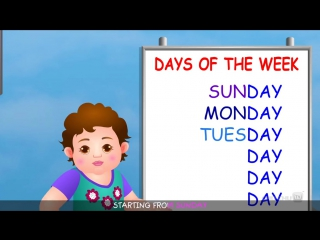 Days of the Week Song - 7 Days of the Week – Nursery Rhymes Childrens Songs by ChuChu TV