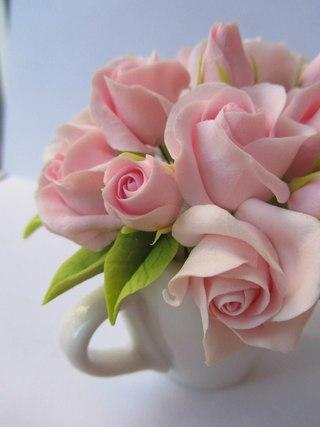 Мастер-класс розы из полимерной глины