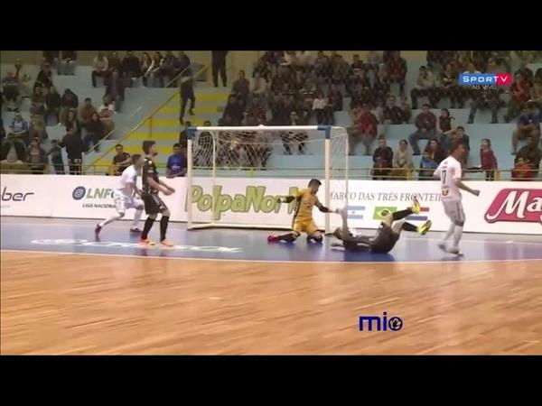 Чемпионат Бразилии Foz Cataratas 3 x 3 Pato Futsal (16 тур) 27/08/2018