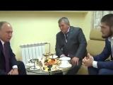 Владимир Путин и Хабиб Нурмагомедов Встреча