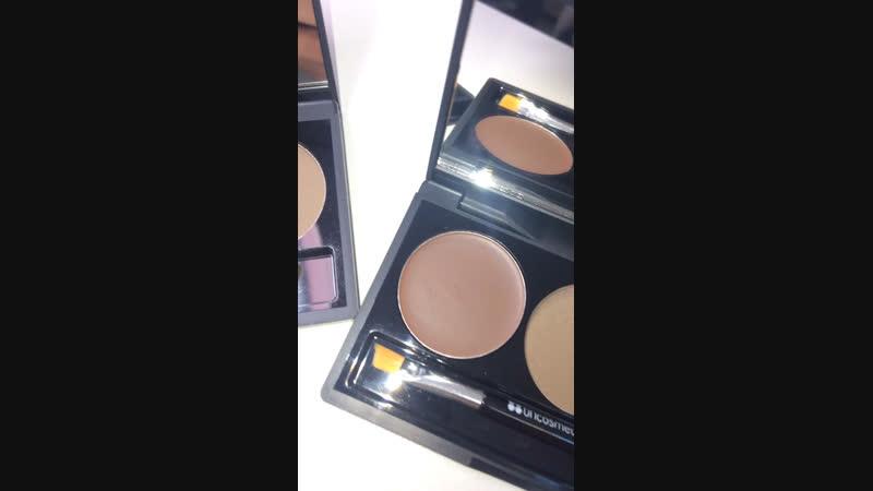Bh cosmetics Flawless brow trio тени для бровей