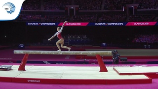 Ksenia KLIMENKO (RUS) - 2018 Artistic Gymnastics Europeans, junior beam final