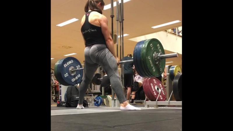 Вилма Олссон - тяга 145 кг на 10