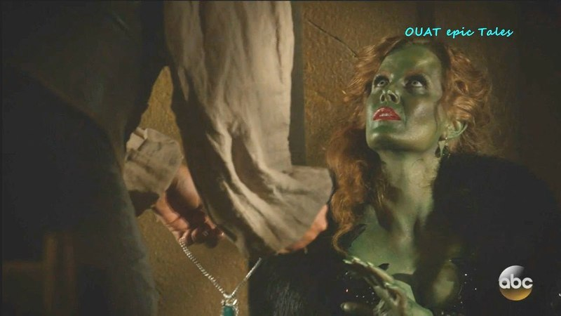 Once Upon A Time 7x17 Wicked Witch Her Necklace with Father of H G Season 7 Episode 17 Scenes