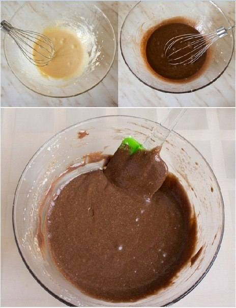 Шоколадно - творожный мягкий пирог