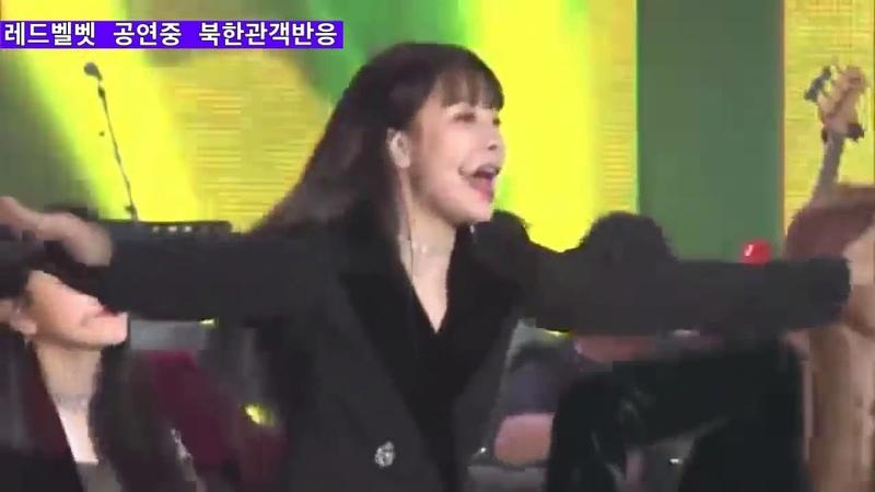 Южно корейская группа Red Velvet выступает на северокорейской сцене