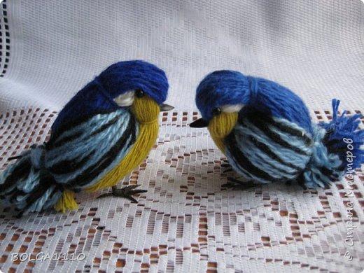 Синичка из пряжи
