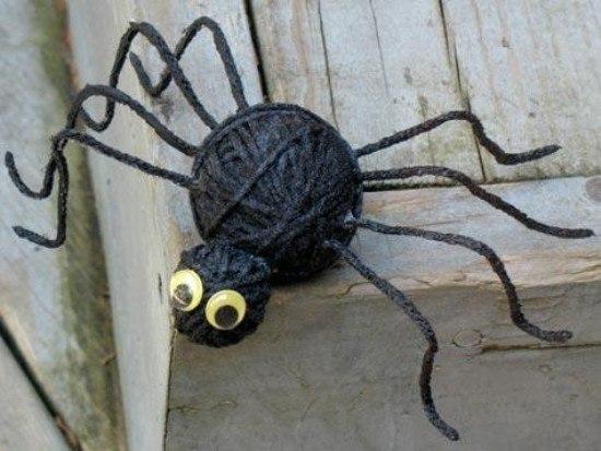 Поделка паук своими руками фото