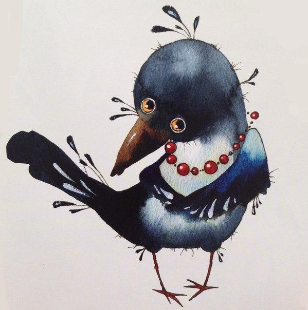 Для, сорока ворона открытки