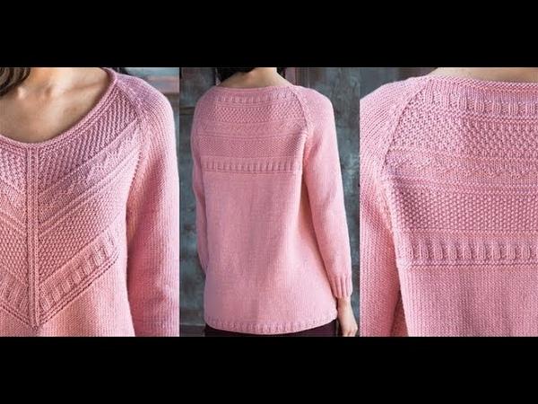 Вяжем Женский Пуловер Реглан Спицами модели 2019 Knit a Women's Pullover Raglan Spitsami