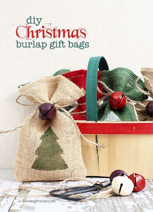 Декорируем мешочки для новогодних  подарков