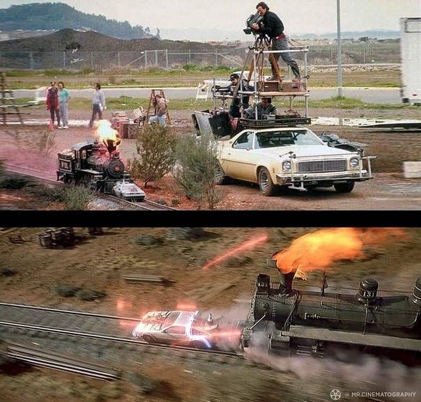Фото со съёмок фильма «Назад в будущее 3»