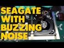 Seagate is making buzzing noises platter swap