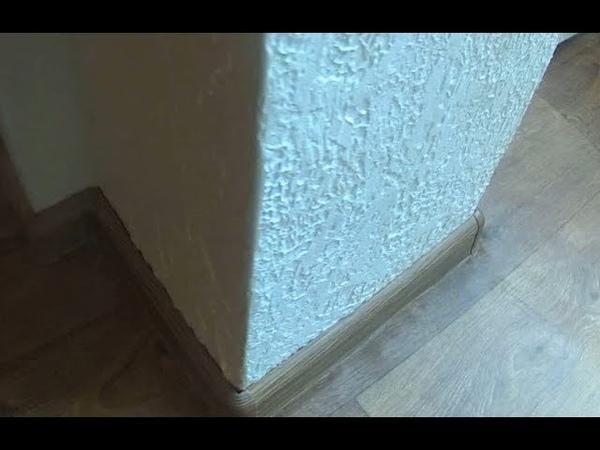 Декоративная штукатурка гипсом арки или колоны, у окна. Вариант 2.