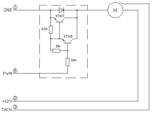 схема управления 12v