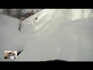 Лыжник упал в расщелину