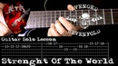 Strength Of The World Guitar Solo Lesson - Avenged Sevenfold with tabs