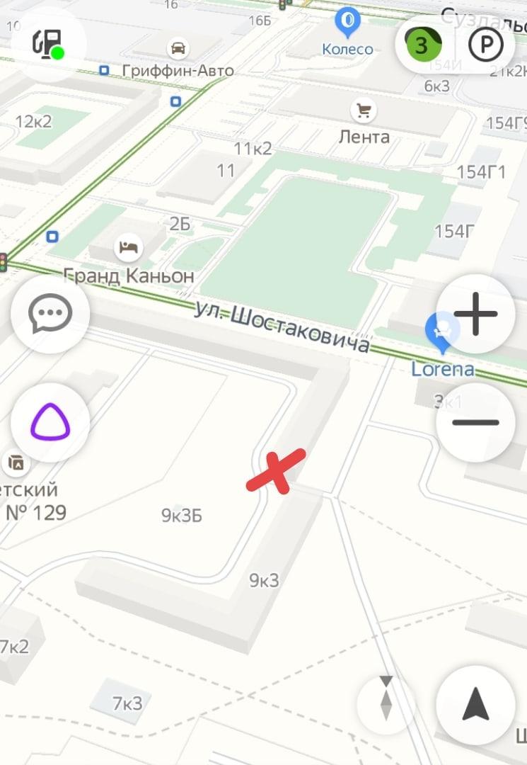 Hyundai и Renault столкнулись на выезде со двора Шостаковича 1/9