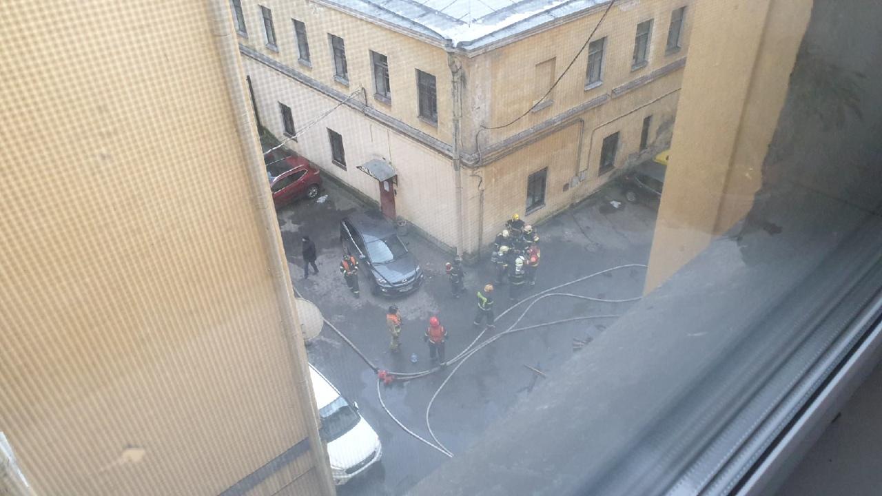 Пожар в доме №1 во Львином переулке.