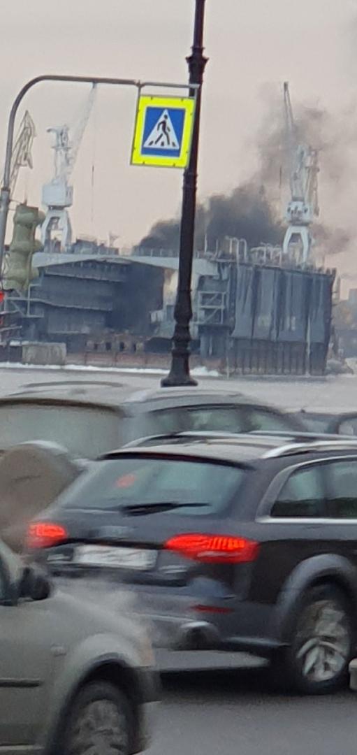 Пожар в Адмиралтейском судостроительном заводе
