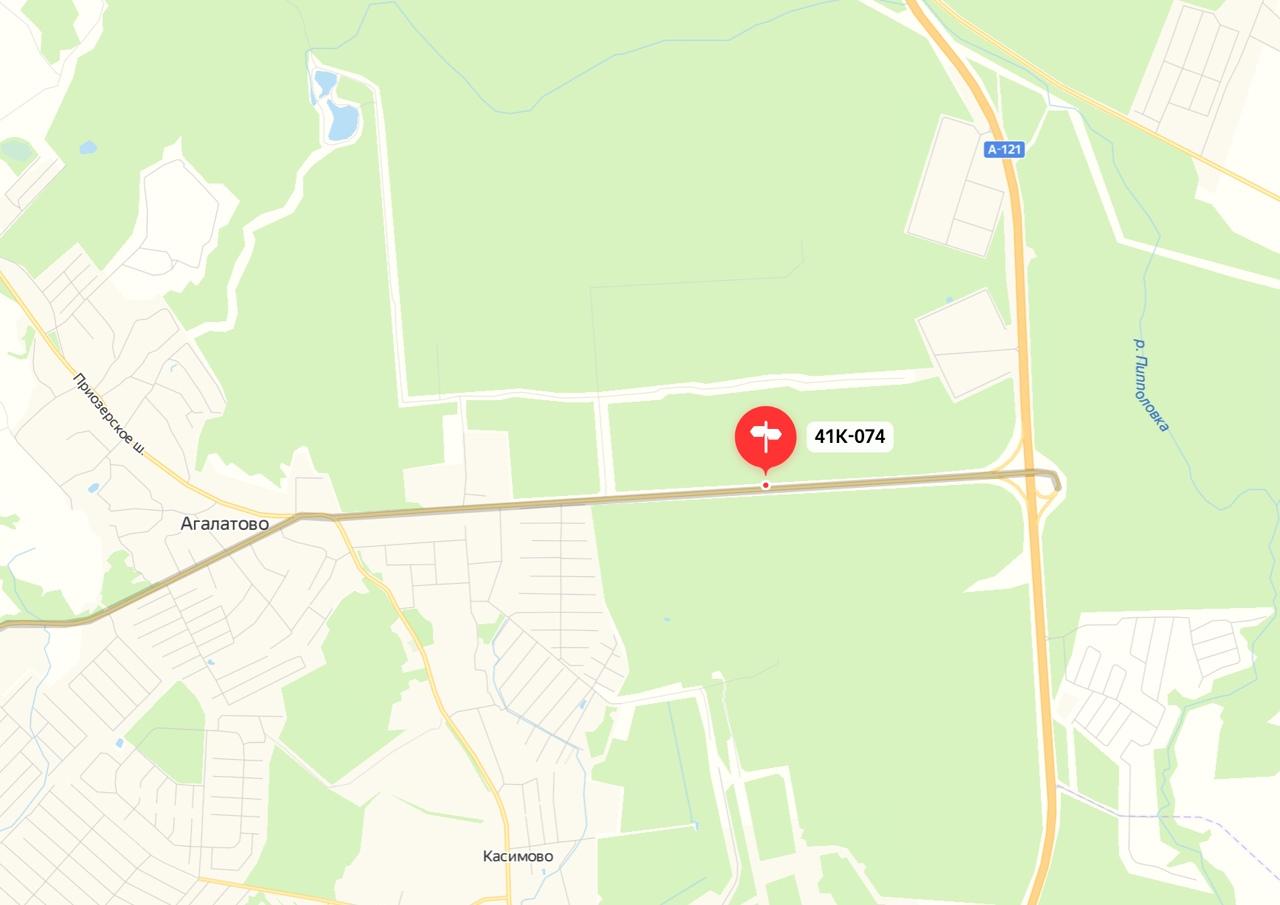 Внимание! На неосвещенном участке дороги от А-121 до Агалатово опасная яма. Координаты N60.221181 E3...