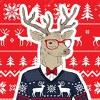 Новогодние свитера с оленями, шарфы и пледы