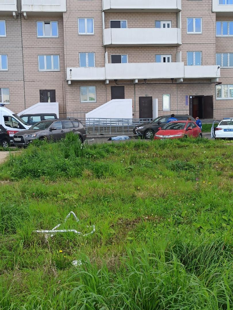 Мужчина упал на капот припаркованного Митсубиси у дома 73 по проспекту Королева