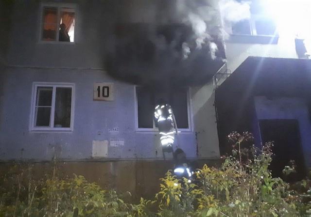 02.10.2021. Пожар в Усть-Илимске на улице Белградской, 10