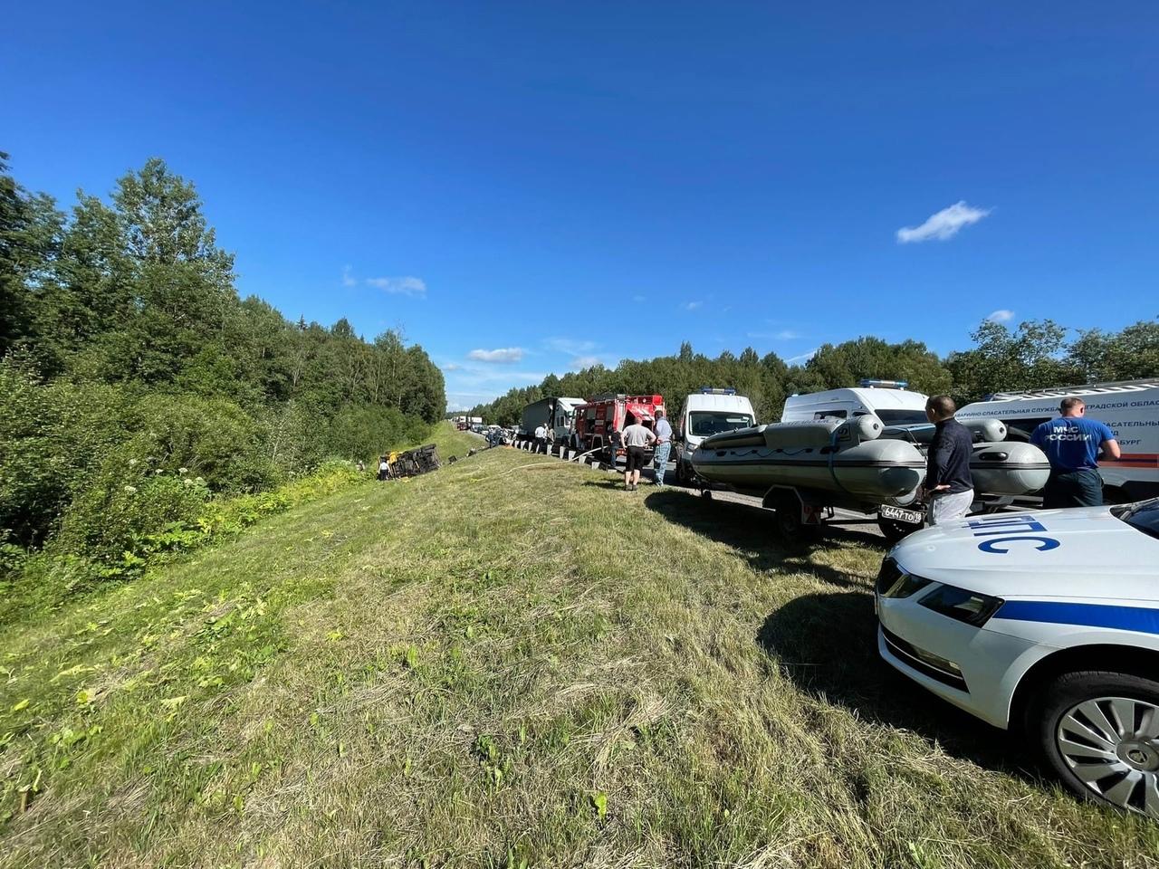 На Мурманском шоссе в районе Феликсово произошло смертельное ДТП Столкнулись 2 фуры, 3 легковые. ...