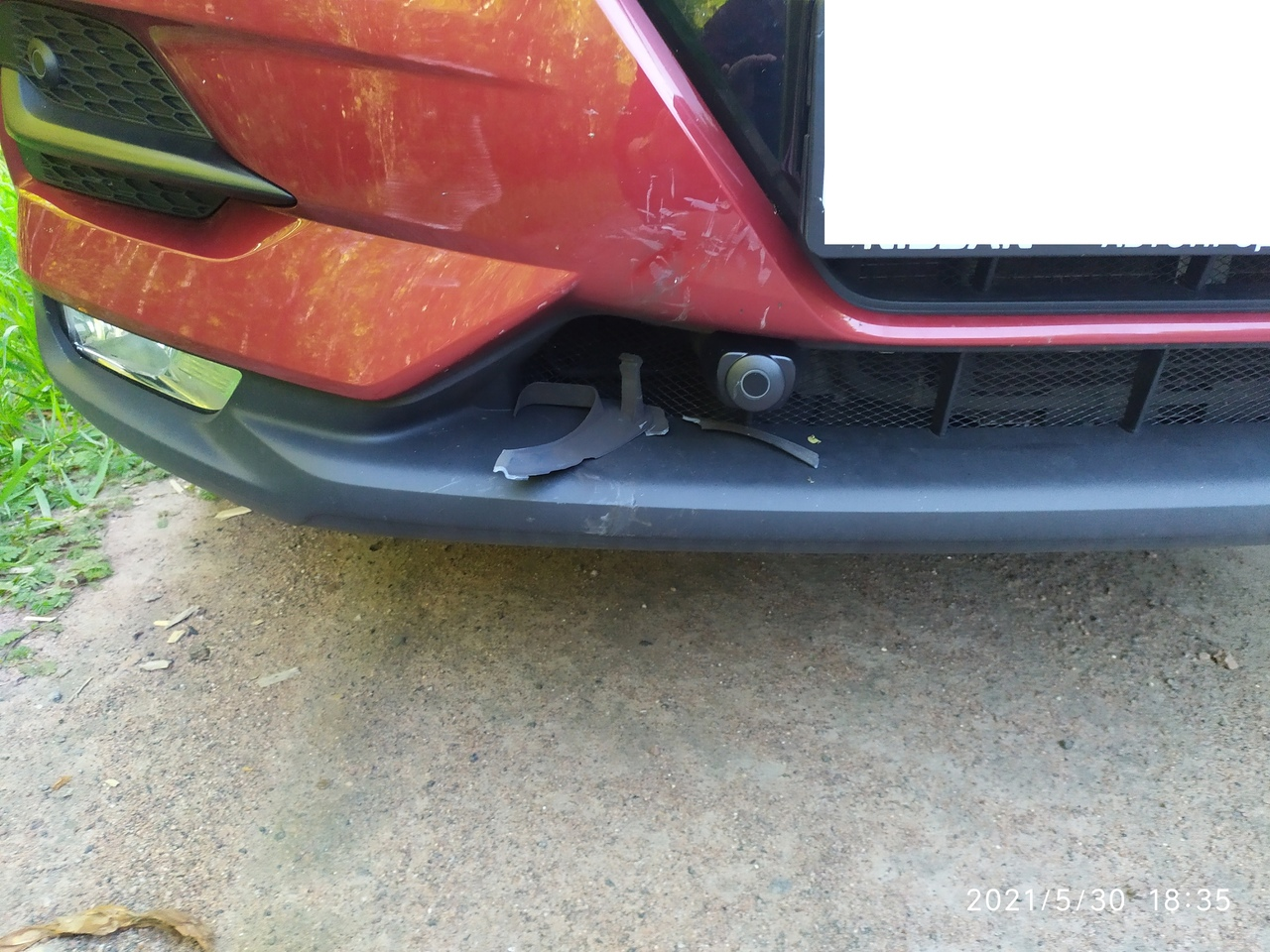 """Хочу выразить """"благодарность"""" одному водителю. Благодаря его безолаберности поврежден мой автомобиль..."""