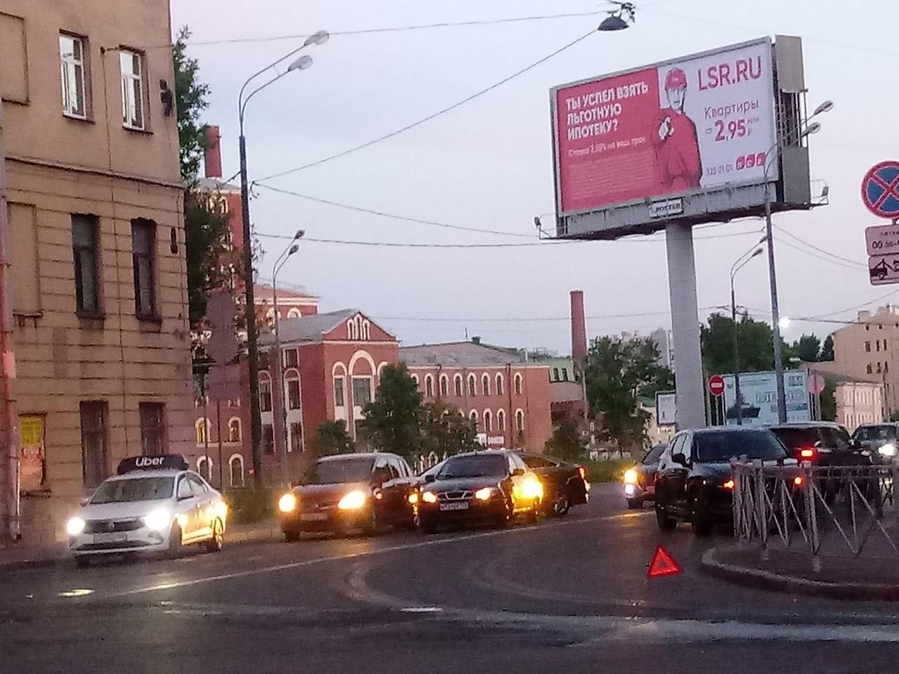 Авария на Константина Заслонова, у поворота на Звенигородскую.