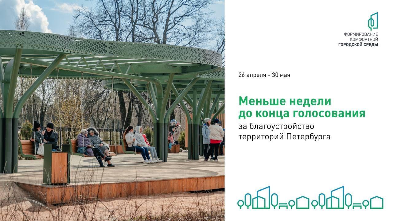 Петербуржцы выбирают, где появятся новые общественные пространства — до завершения общего голосовани...