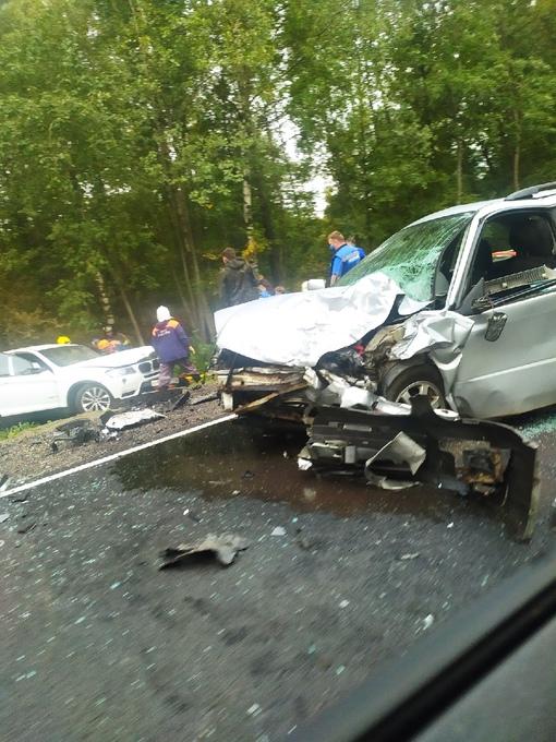 Жестокая авария на краснофлотском шоссе Службы все на месте