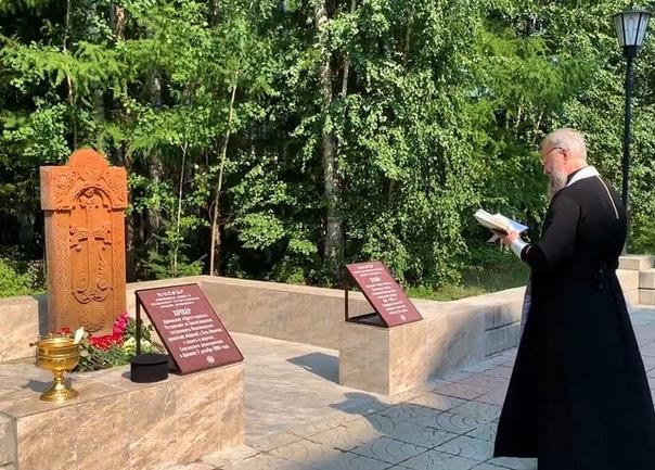 Открытие и освящение «Креста-камня» Хачкар прошло в Усть-Илимске